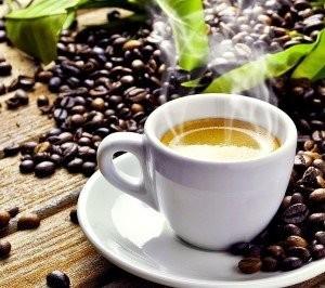 Espresso Tasse & Kaffeebohnen